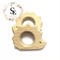 Wholesale bpa toys online - 20 Natural Wood Teether mixed design teether High Quality Untreated Wood Teething toy teether BPA free safety baby teether