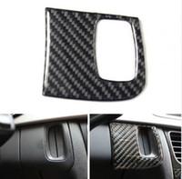Wholesale Carbon Fiber For Car Interior - Safety Warning light panel decoration cover trim for Audi A6 2012-16 Carbon fiber Car styling Interior accessories