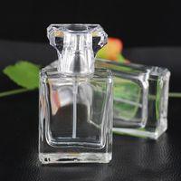 Wholesale New Glass Perfume Spray Bottles - Fast Shipping Brand New Glass Spray Bottle 30ML Transparent Spray Bottle Empty Refillable Perfume Spray Bottles Atomizer JF-075