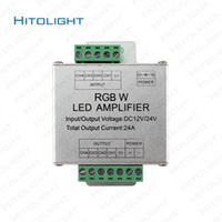 HITOLIGHT DC12V-24V 24A Alumínio Case Controller RGBW Amplificador para RGB SMD 2835 5050 LED Strip Light Box