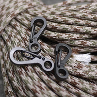 Wholesale Paracord Accessories - Mini Spring Backpack Clasps Climbing Carabiners Camping Bottle Hooks EDC Keychain Paracord Tactical Survival Gear Accessories