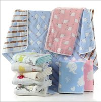 Wholesale Paisley Robe - Baby shower robes pure cotton safe six layers of gauze lovely cartoon children towel coverlet blanket free shipping retail and wholesale