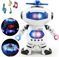 Wholesale White Robot Toy - Space Dancing Humanoid Robot Toy With Light Children Pet Brinquedos Electronics Jouets Electronique For Boy Kid
