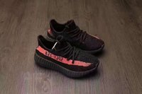 Wholesale zebra shoes kids for sale - Hot Sell Kids Youth Sply V2 Cream All White Zebra Bred Beluga Black Red White Kany West Running Shoes Size Eur