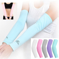 Hicool Cooling Sleeves Unisex Sports Sun Block Anti UV Proteção Mangas Driving Arm Sleeve Cooling Sleeve Covers 2pcs / pair WX-H15