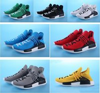 Mesh blacks in green - 2017 Pharrell Williams NMD HUMAN RACE In Yellow red black blue grey green white men women Fashion Sport sneakers running Shoes eur