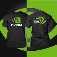 Wholesale Geforce Intel - Wholesale- Best Quality AMD intel Nvidia Men t shirt Geforce GTX game men T-shirt camisetas Computer Peripherals fashion novelty