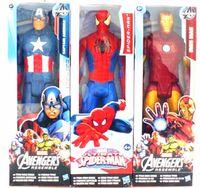 "Wholesale Marvel Avengers Heros Figures - 12"" 30cm Marvel super heros the Avengers figure captain america iron man spiderman pvc action figure collection model toy"