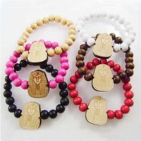 Wholesale Good Wood Hiphop Wholesale - Vintage Egypt Pharaoh Necklace Pendant GOOD WOOD Hip Hop Beads Wooden bracklets Fashion Jewelry Best Gift hiphop