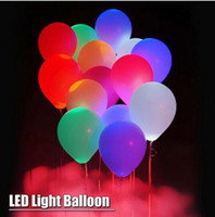 Wholesale Helium Light Balloons - LED Balloon Light ball 12 Inches Latex Multicolor Helium Balloons Christmas Hollween Decor Wedding Party ballon led ball