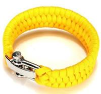 Wholesale Titanium Paracord Bracelet - Paracord Survial Bracelets With Adjustable Metal Buckle Fashion Titanium Magnetic Bracelet Survial Bracelet Tools Survival Gear