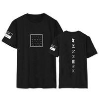 Wholesale Concert Tees - Wholesale-Kpop monsta x concert same printing o neck short sleeve t shirt for fans supportive summer tee plus size o neck t-shirt