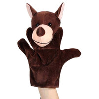 Wholesale Dragon Puppets - Wholesale-1Pcs Cute Bear Wolf Turtle Cows Dragon Hand Puppet Finger Puppet Animal Glove Puppet Hand Dolls Plush Toy For Baby Child Friends