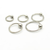 Wholesale Lip Labret Balls - BCR Nose ring Labret Lip Stud Earring Tragus Nipple Ball Closure Captive Rings 16G Surgical Steel 4mm Ball Round Septum 10mm 12m