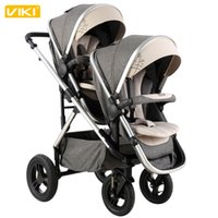 Wholesale Twin Wheels - High Landscape Twins Stroller, Baby Stroller Twins, Children Pushchair for 2 Kids, Baby Carriage, Two-way Available, 4 Non-inflatable Wheel