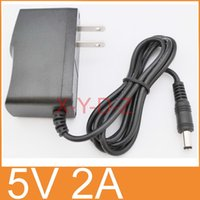 50PCS AC 100V-240V Converter Adapter DC 5V 2A   2000mA Power Supply US plug + DHL Free shipping
