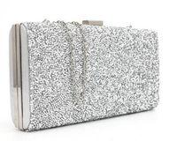 Wholesale evening bag online - small designer handbags gold silver sequined evening clutch Banquet Bag Purse Bridal