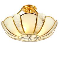 galerías de techo de luz al por mayor-India tradicional Flor Cobre Restaurante Luz de techo Pantalla de cristal Sala de estar Galería Luz de techo Comedor Luz