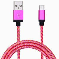 Wholesale Shell Smart Phone - Cell Phone Cables 3M 10ft metal shell nylon weave Micro USB Cable Charger Data Sync USB Cable Cord For Smart Cell phones Tablet PC USSZ013A