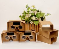 Wholesale free google cardboard online - Google V2 Cardboard VR Virtual Reality D Glasses Storm Mirror DIY Kit Viewing head strap For iphone plus Samsung S8 Free DHL