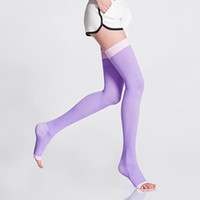Wholesale New Sleeping Beauty - 2017 NEW Health Varicose Veins Compression Stockings Burn Fat Thin Sleeping Over Knee Stockings Slimming Lady's Beauty Leg Slim Legging