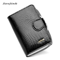 Wholesale grain photos - Wholesale- Foreign Trade New Genuine Leather Women Wallets Alligator Grain Vertical Hasp Ma'am Coins Card Holder Purse Wallet Free Shipping