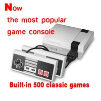 Wholesale Wholesale Console Wifi - Mini TV Video Handheld Game Console Entertainment System Built-in 500 Classic Games For For Nes Games PAL&NTSC