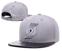 Wholesale White Baseball Caps Cheap - Portland Adjustable Trail Blazers Damian Lillard Snapback Hat Thousands Snap Back Hat Basketball Cheap Hat Adjustable men women Baseball Cap