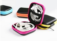 Wholesale Earphone Wire Storage Box Organizer Data Line Cables Storage Container Case Earbuds SD Card Box
