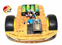 Wholesale Rc Nitro Car Kits - Wholesale- Official DOIT Cheapest WiFi Smart Car rc toy 2WD L293D from Esp8266 WiFi Serial Module with NodeMCU + Motor Shield ESP-12E