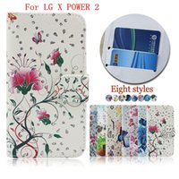Wholesale One X Credit Card Case - For HTC ONE X10 U PLAY LG X POWER 2 ZTE A520 wallet Case flip PU Leather phone case Inside Credit card slot