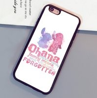 Wholesale Iphone 4s Soft Stitch Cases - Lilo and Stitch Ohana Printed Mobile Phone Cases OEM For iPhone 6 6S Plus 7 7 Plus 5 5S 5C SE 4S Soft Rubber Back Cover Shell