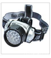 Wholesale New Led Headlights - New 21LED Headlamps 3 Modes HeadLight Lamp Flashlight For Hiking Camping Night Fishing Waterproof Headlamp No 3 * AAA batteries