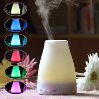 Wholesale Mini Lights Change Color - 100ml Bottle Shape Ultrasonic Air Diffuser Color Changing LED Oil Diffuser Mini Portable Home Office Aroma Humidifier with night light