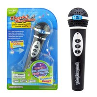 Wholesale Girls Singing - Black Simulation Microphone For Children Modern Microphone Mic Karaoke Singing Kid Girls Boys Funny Toys Gift Music Toy