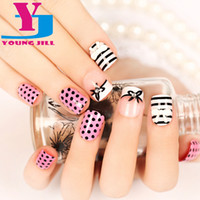 Wholesale 3d Pre Glued - Wholesale- Fake Nails Short Manicure 3D Finished Product Manicure Art False Nail Wholesale Fashion Artificial ABS Full Pre-Glue Nail Tips
