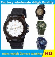 Wholesale Trendy Luxury Fabric - christmas watches Luxury Analog SWISS Gemius ARMY new fashion TRENDY SPORT MILITARY STYLE WRIST WATCH for MEN watch DHL FREE