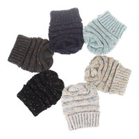 Wholesale cream knitted baby hat resale online - Newest Parent Child Without hats Baby Mum Wool Beanie Winter Knitted Hats Warm Hedging Skull Caps Hand Crochet Caps Hats