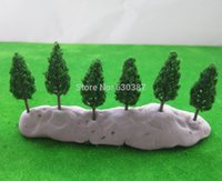 Wholesale Plastic Trees Model - Wholesale-S4815 Model Pine Trees Deep Green For N Z Scale Layout 48mm New