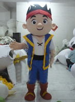 Wholesale Mascot Costumes Jake - JAKE AND THE PIRATE mascot costume custom cartoon character cosply adult size carnival costume 61