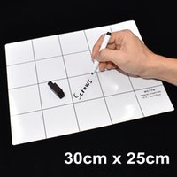 Barato Laptop Pad Pad-30cm x 25cm Branco Magnetic Project Mat Screw Pad Screws Pad de trabalho com marcador Eraser para celular Tablet Laptop Laptop DIY Repair 50set / lot