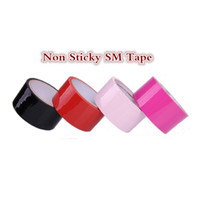 Wholesale Strapon Toys Wholesale - 15 Yard Electrostatic tape Non stick sex toys for couples bdsm sex strapon tape Bondage SM sex games adult furniture sexs tape