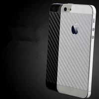 koruyucu çıkartmalar telefon toptan satış-IPhone 5 S Için karbon fiber arka yüz koruyucu film Kapak geri yüz yalıtım drawbench sticker koruyucu cep telefonu