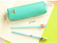 Wholesale Horse Stationery - Wholesale- PU Material Bag Rainbow Horse Office School Supplies Stationery Pencil Case
