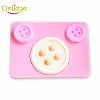 Wholesale Fondant Button - Delidge 20 pc Buttons Shape Cake Mold Silicone Cake Decoration Fondant Mold Baking Decorating Tools Button Fondant Chocolate Mold