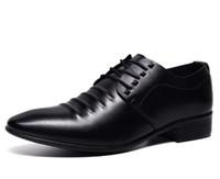 sapatos punk oxford venda por atacado-Moda britânica homens punk apontou sapatos de couro pu oxfords masculinos sapatos