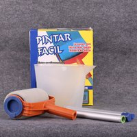 Wholesale roller brush painting - Household Paint Runner Multi Function Pintar Facil Paints Runners Roller With Handle Rollers Brush Round Sponge Brushes For Home 12sh D