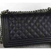 Wholesale Sales Fashion Leather Bag - Hot sale Fashion women's flap bag famous brand Caviar Leather shoulder bags with chains genuine leather designer handbags messenger bags