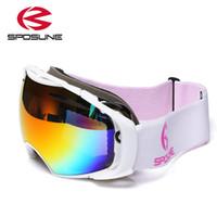 Wholesale Googles Glasses - Wholesale- 2017 Winter Snow Ski Goggles Snowmobile Eyewear Ski Googles Skiing Accessories ski glasses skibrille Men Women Snowboard Goggles