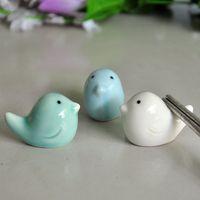 ingrosso le vendite delle bacchette-Bacchette di ceramica cremagliera animali fatti a mano uccelli forma bacchetta titolare per artigianato di nozze regalo vendite dirette della fabbrica 1 3aj B